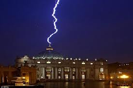 Lightning strikes the Vatican
